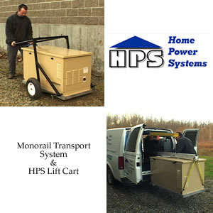 Monorail Transport System and HPS Lift Cart