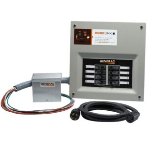 Homelink Upgradeable 8 Circuit Manual Transfer Switch